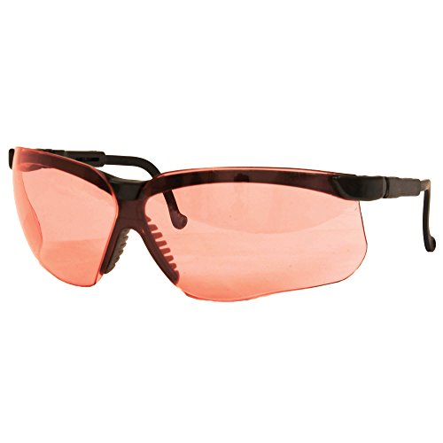 Genesis Ballistic Lens - Howard Leight Genesis, Anti-Fog, Black Frame, Vermillion Lenses