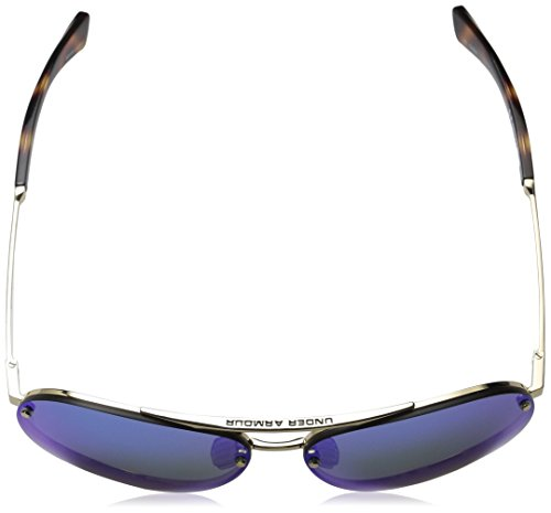 Armour Ua Under Down Mirror Shiny Double Dark Multiflection Gold Blue Sunglasses Crystal Brown wOOqad