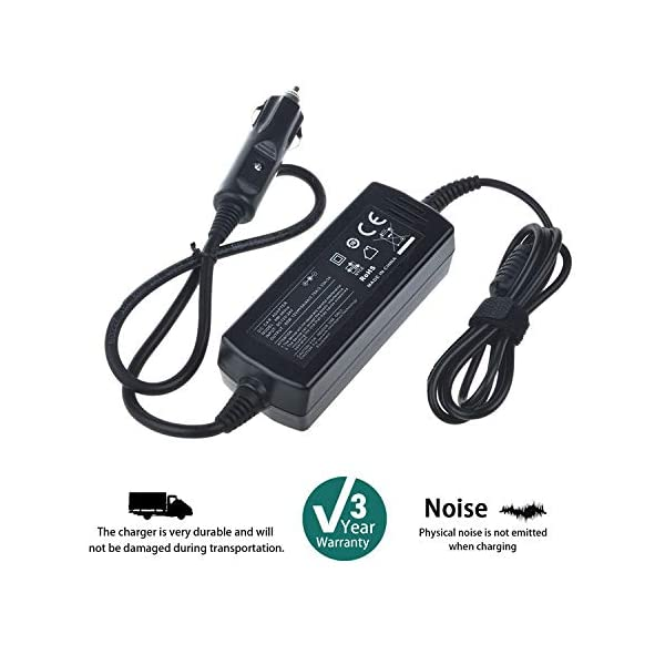 SLLEA Car DC Adapter Charger for Naxa LCD HD TV with Built in Digital TV Tuner NTD 13.3 NTD1350 13.3 1080i HD LED LCD… 3