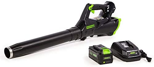 Greenworks 40V Brushless Axial Leaf Blower, 430 CFM 115 MPH, 3.0Ah Battery and Charger Included
