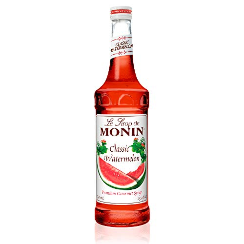 Monin - Classic Watermelon Syrup, Juicy and Sweet, Great for Sodas and Lemonades, Gluten-Free, Vegan, Non-GMO (750 Milliliters) ()