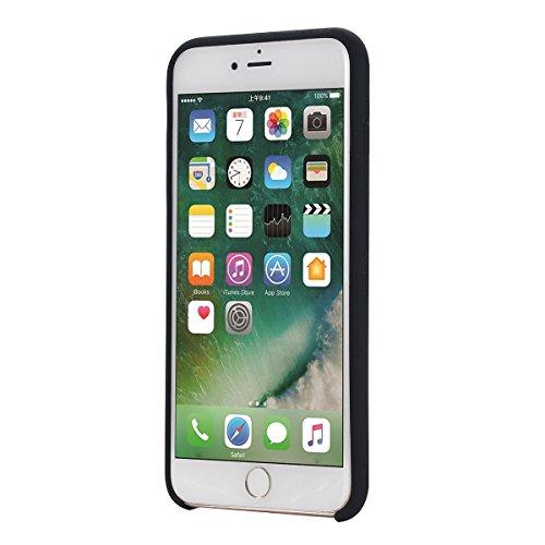 UKCOCO Caja del teléfono 6 / 6S para iPhone Apple Teléfono celular 4.7Inches Protective Waterproof Soft Silicone Slim Durable Resistente a los arañazos Cubierta protectora (rojo) Negro
