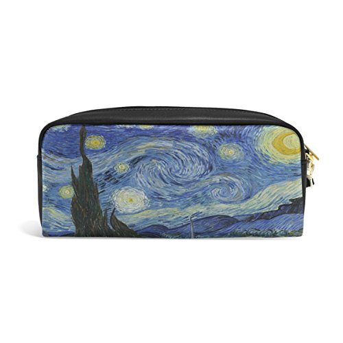 ABLINK Van Gogh Starry Night Art Pencil Pen Case Pouch Bag with Zipper for Travel, School, Small Cosmetic - Zipper Van