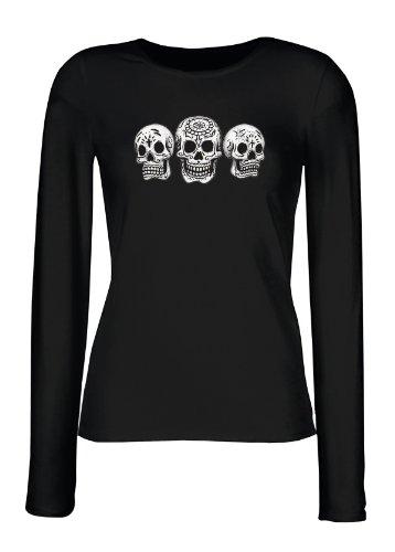 smurfbay - Camiseta de manga larga - para mujer negro