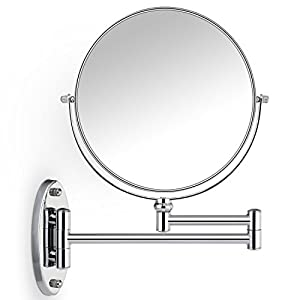 Delicieux Cosprof Bathroom Mirror 10X/1X Magnification Double Sided 8 Inch Wall  Mounted Vanity Magnifying Mirror Swivel, Extendable And Chrome Finished