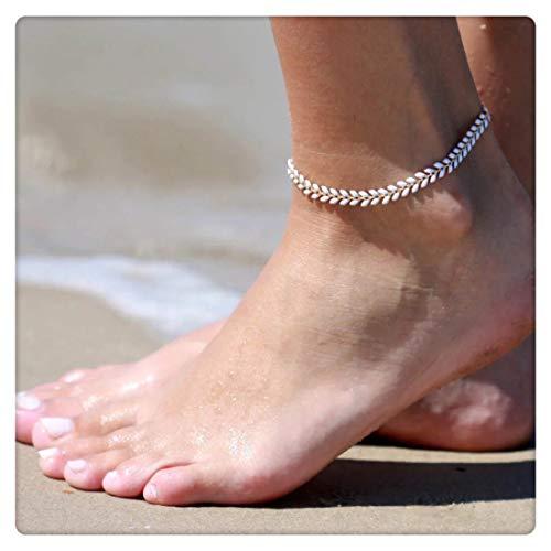 SEUSUK Anklet Bracelet for Women Gold Arrow 14K Gold Fill Boho Beach Handmade Charm Dainty Chain Foot Jewelry Gift ()