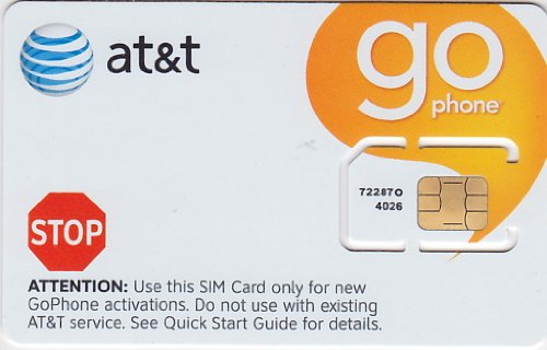 ATT Wireless GO Phone SIM Card 3G 2G / Edge (Card Gophone Sim)