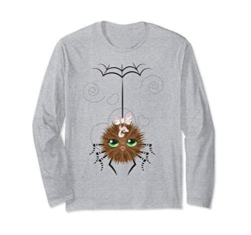 Boo Halloween Costume Cute Spider & Spider Webs Long Sleeve T-Shirt