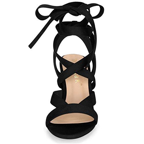 Sandales Allegra Femme Noir Allegra K K Sandales wHI7nqU