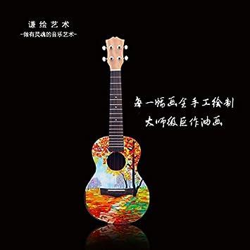 X-XIN Pintado A Mano Pintura Guitarra Principiante Especialmente ...