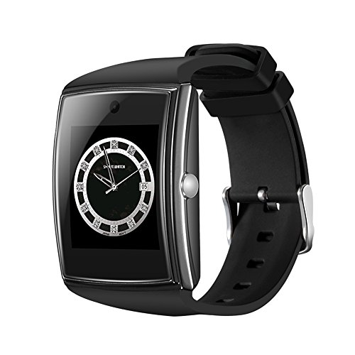 SURMOS LG518 Smart Watch Big Touch Screen IPS 3D Surface Support NCF Bluetooth SIM card Watch Phone for IOS and Android (Black)