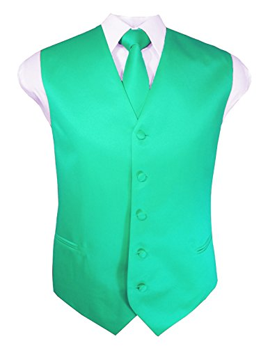 Guytalk Mens 3 Piece Tuxedo Vest for Formal Party, Wedding, Prom, Bartender XL -