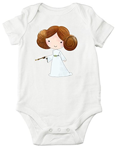 Baby Clothing Collection (Aribella Collection Baby Girls Infant Toddler Princess Leia Star Wars Inspired Bodysuit Size 18 Months Short Sleeve White Color)
