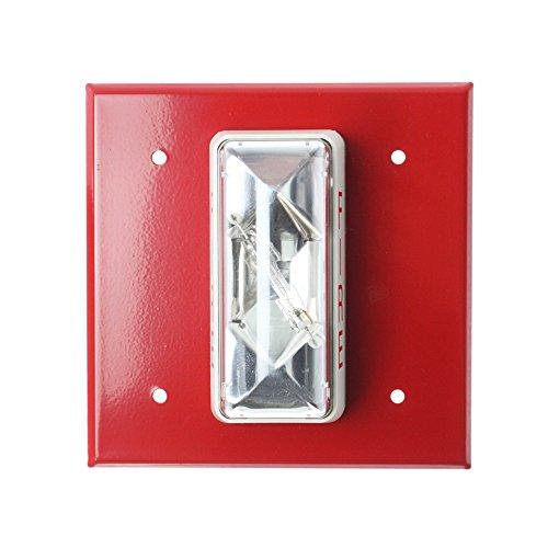 Edwards EST 405-3A-T Indoor/Outdoor Strobe Alarm Signaling Appliance, 24V, Red (Outdoor Est Lighting)
