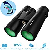 12x42 Compact Binoculars for Adults - Professional HD Binoculars for Birds Watching Hunting Concerts with Clear Weak Light Vision - BAK4 Prism FMC Lens with Strap Carrying Bag