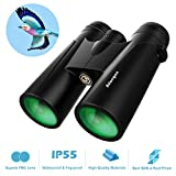 12x42 Roof Prism Binoculars for Adults - Professional HD Binoculars for Birds Watching Hunting Concerts with Clear Weak Light Vision - BAK4 Prism FMC Lens with Strap Carrying Bag: more info