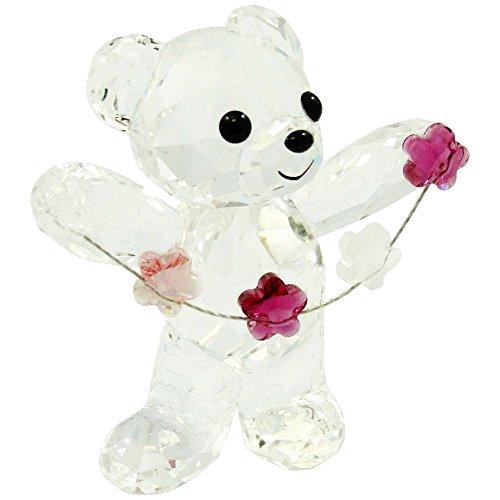 5076626 Swarovski Kris Bear Flowers For You Figurine