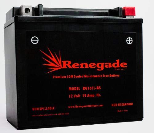 Personal Watercraft Battery; RG16CL-BS; Yamaha 2009, 2010, 2011, 2012, 2013, 2014, 2015, 2016, 2017, 2018 FY1800, GP1800, GX1800, VX1800 WaveRunner; Part# GT16L-BS, PTX19CLBS-FS, BTX16CL-BS, WP16CL-BS