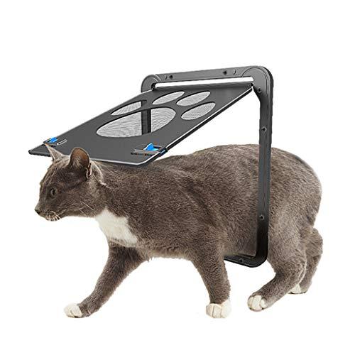 Pet Screen Door Dog Footprint Pattern Pet Cat Door Window Screen Doggie Flap Saf
