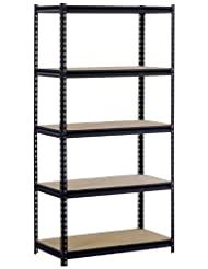 Sandusky/Edsal UR185P-BLK Black Steel Heavy Duty 5-Shelf Shel...