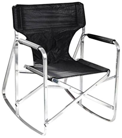 Superieur Stylish Camping SL1205BLACK Rocking Full Back Folding Directoru0027s Chair