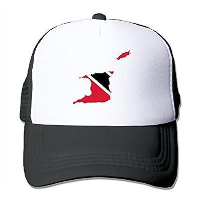 HAT-HAT Flag Map of Trinidad Men's Women's Adjustable Snapback Hats Dad Hats | Baseball Caps Mesh Back
