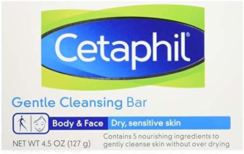 Cetaphil Gentle Cleansing Bar for Dry/Sensitive Skin 4.50 oz (Packs of 6)
