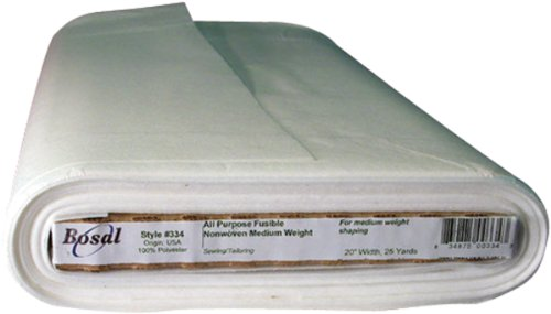 Bosal Fusible Non-Woven All Purpose Interfacing, 20-Inch by 25-Yard, White by Bosal