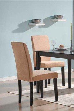 Set of 2 Parson Dining Chairs Beige Mircofiber