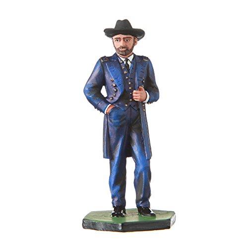 danila-souvenirs Tin Toy Soldier USA Civil war Northerners General Ulysses Grant hand painted metal sculpture miniature figurine 54mm #CW01 Civil War Sculpture