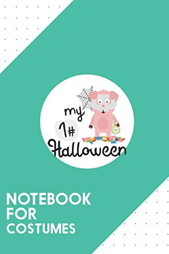 Halloween Vampire Doughnuts (Notebook for Costumes: Dotted Journal with My First Halloween Horror Pig Design - Cool Gift for a friend or family who loves funny presents!   6x9