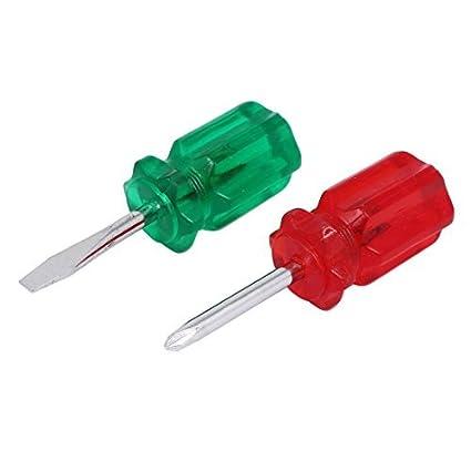 Mango eDealMax punta de plástico de 5 mm Phillips ranurado con herramienta de mano destornilladores Red