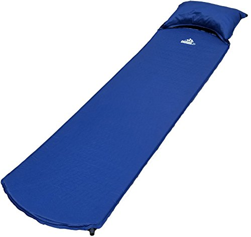 Outdoorsman Lab Lightweight Self-Inflating Sleeping Pad with Self-Inflating Pillow For Camping, Backpacking