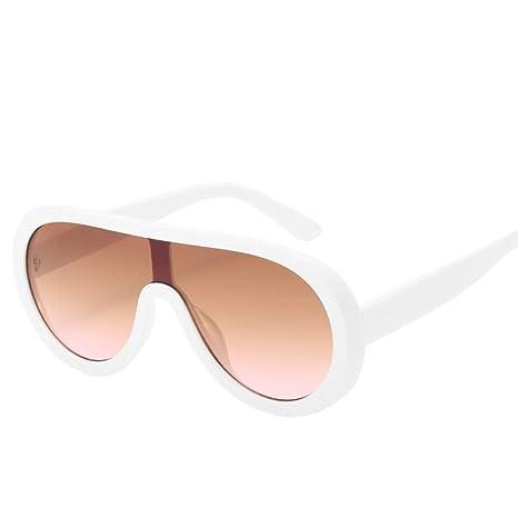 Yangjing-hl Gafas de Sol Montura Grande Gafas de Sol de una ...