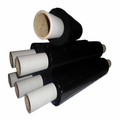 6x rouleaux de ext Core Film étirable pour Palettes Noir 200m x 400mm x 17Mu SMART SHOPPING