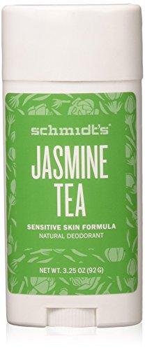 Schmidt's Natural Deodorant for Sensitive Skin - Jasmine Tea, 3.25 ounces. Stick for Women and Men by Schmidt's Deodorant