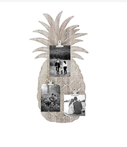 Youngs Wood Pineapple Wall Photo Clip Home Accessories,Grey by youngs