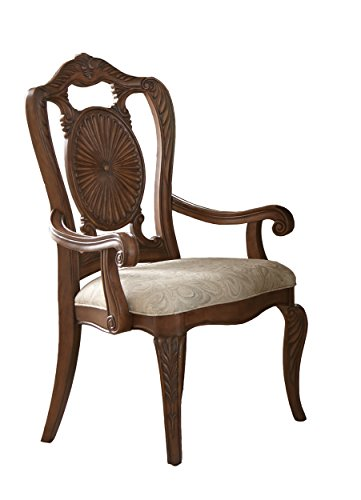 Homelegance Norhill Dining Arm Chair (Set of 2), Pecan