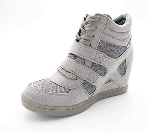 Mujer Fashion Altas gris Zapatillas Oui xROUtO