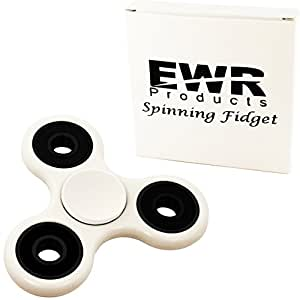 EWR 360 Spinner Fidget Toy R188 Bearing Quiet & Fast 1-4 Min Spins, Premium EDC Helps Focus, Stress, Anxiety, ADHD, Boredom. Extremely Durable