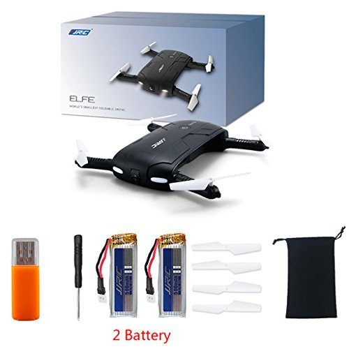 yournameI JJRC H37 Foldable 6-Axis ELFIE Quadcopter Drone with WiFi FPV 720P 2 Battery Camera Pocket Drone Mini Drone