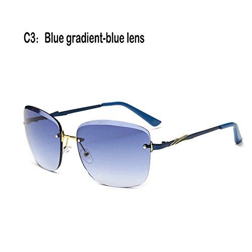 cristal 927C3 mujer reborde 927C3 TL Lentes sol Gafas de Gafas de Fuzzy UV400 Sunglasses sin cc8TBWH