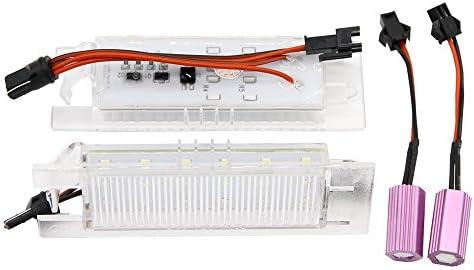 Nslumo 2 Stueck Led Kennzeichenbeleuchtung Lampe Xenon Weiß Für Grande Punto Van 188 188ax Seicento Multipla Marea Auto
