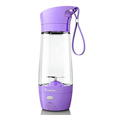 Topfit USB Juicer Cup, Fruit Mixing Machine, Portable Personal Size Eletric Rechargeable Mixer, Blender, Water Bottle 430ml with USB Charger Cable for Sports, Working, Kitchen, Dining
