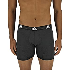 adidas Men's Sport Performance Climalite Boxer Brief Underwear (2 Pack), Black, Medium/Waist Size 32-34