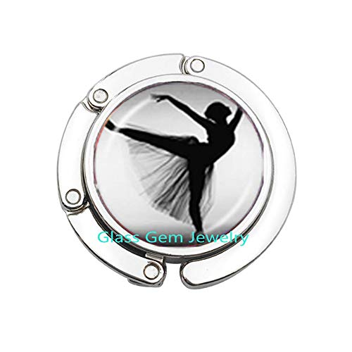 (Dancing Ballerina Dancer Purse Hook Ballet DancePhoto Bag Hook Cabochon Dome Fashion Jewelry for Sweater Purse Hook,Q0234 (Y1))