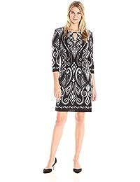 Women's Puff Print Dress
