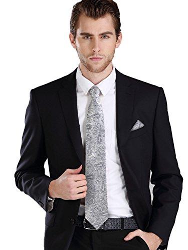 Silver Grey Neck Tie - 4