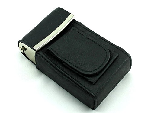 (Skyway Rockford Leather Cigarette Pack Holder Case with Lighter Pouch -)