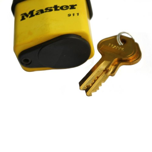 B00004SQKL Master Lock Padlock, Covered Laminated Steel Lock, 2-1/8 in. Wide, 911DPF 41-KPat9rcL
